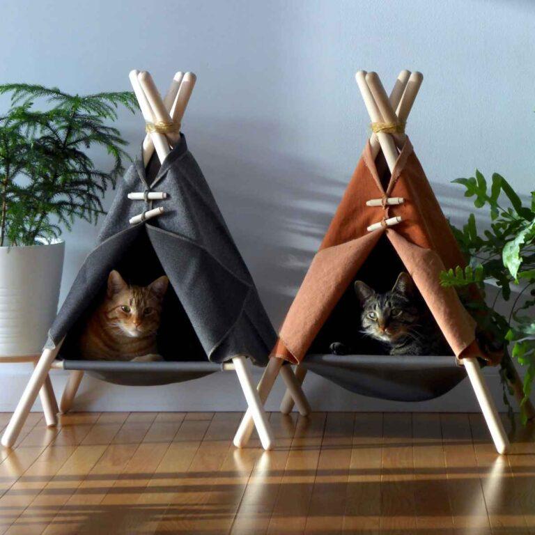 ¿Qué es una tienda de campaña para gatos y qué se puede hacer con ella?